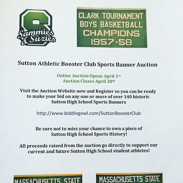 Don't forget to register and bid on your favorite Sports Banner!  We have 145 banners to choose from!