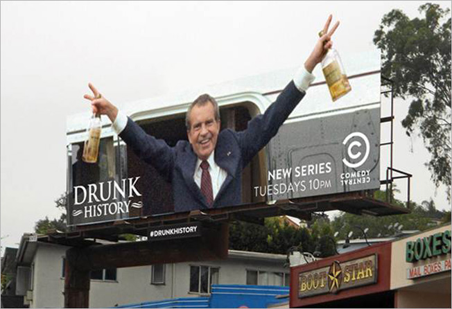 Comedy Central / Drunk History Billboards