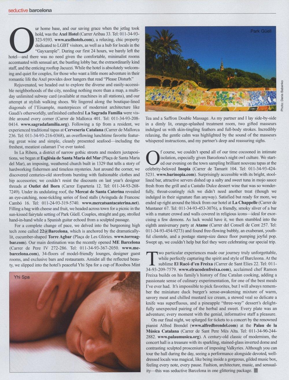 "Passport Magazine / ""Barcelona"" Page 2"