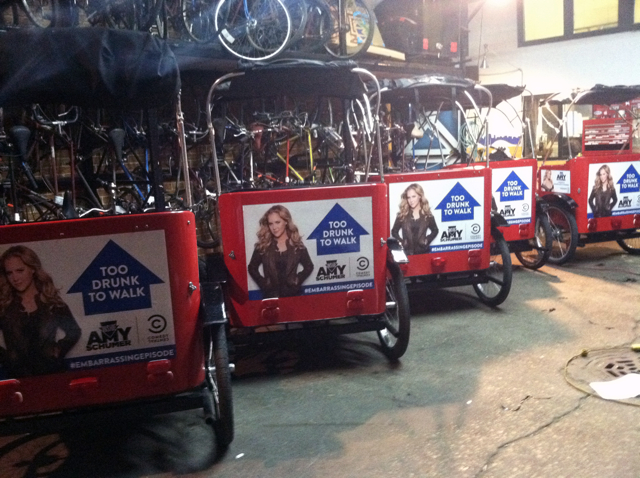 Comedy Central / Amy Schumer Pedicabs