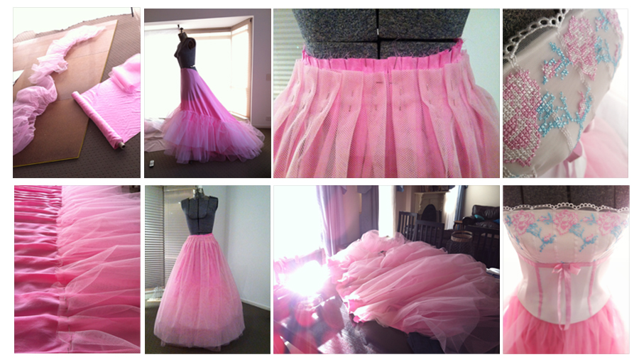 """My first attempt at creating an """"elaborate"""" tulle skirt. Now available as part of the studio wardrobe!"""