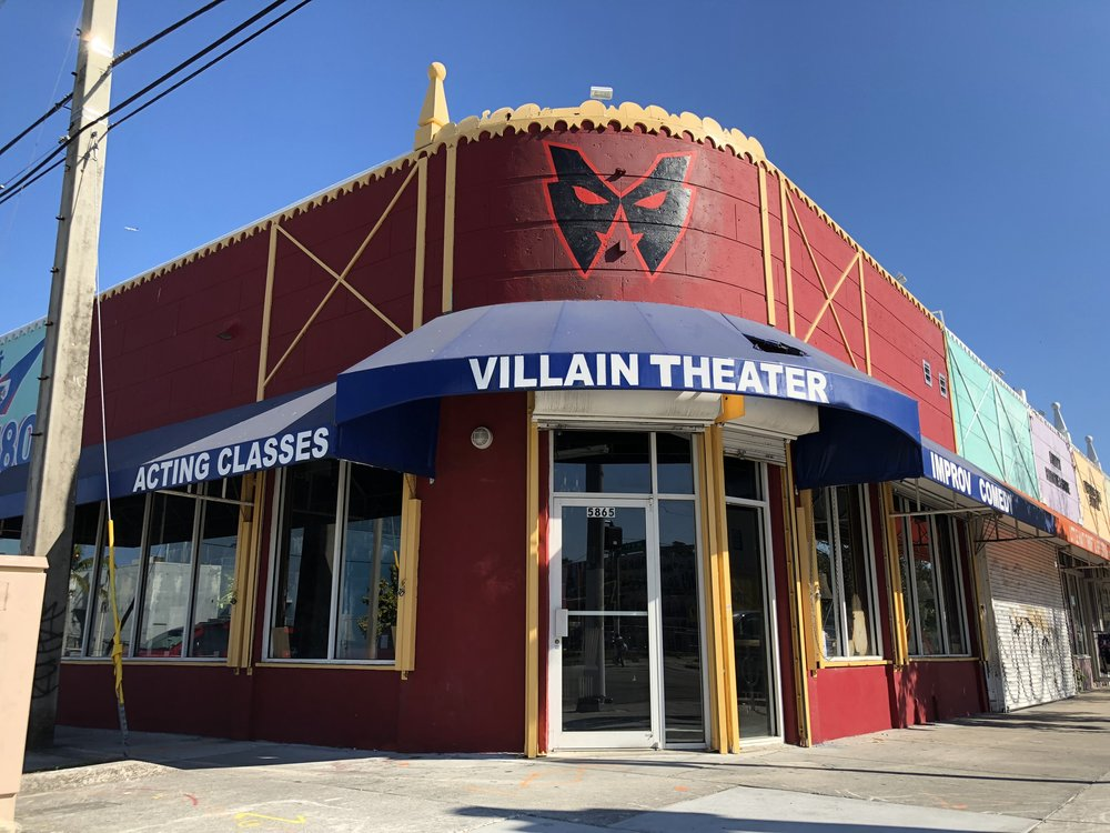 Villain Theater the home of Miami Comedy on the corner of 59th ST and NE 2nd AVE