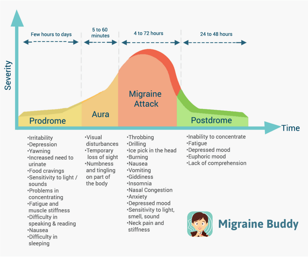photograph relating to Printable Migraine Diary Worksheets named Migraine Indicators: The Levels of a Migraine Migraine Good friend
