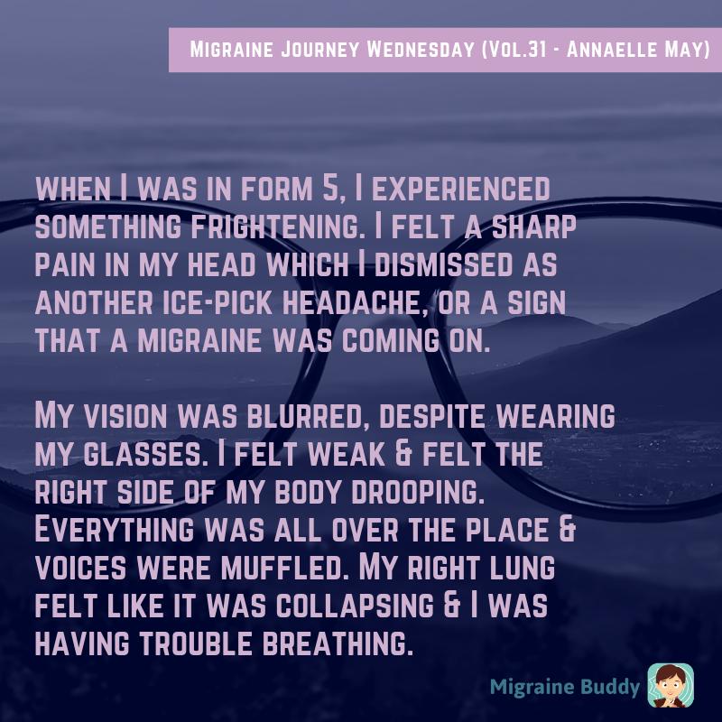 Migraine Journey Wednesday (Vol 31 - Annaelle May