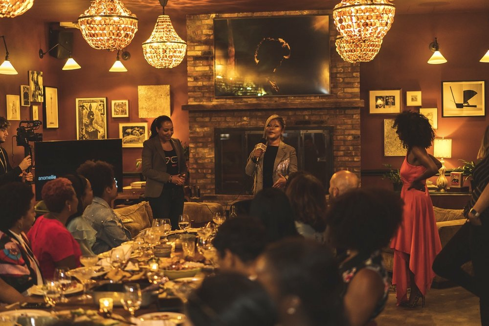 Photo from September 8 WOCFTB hosted at Ludlow House in NYC during Fashion Week with Special Guest Misa Hylton.