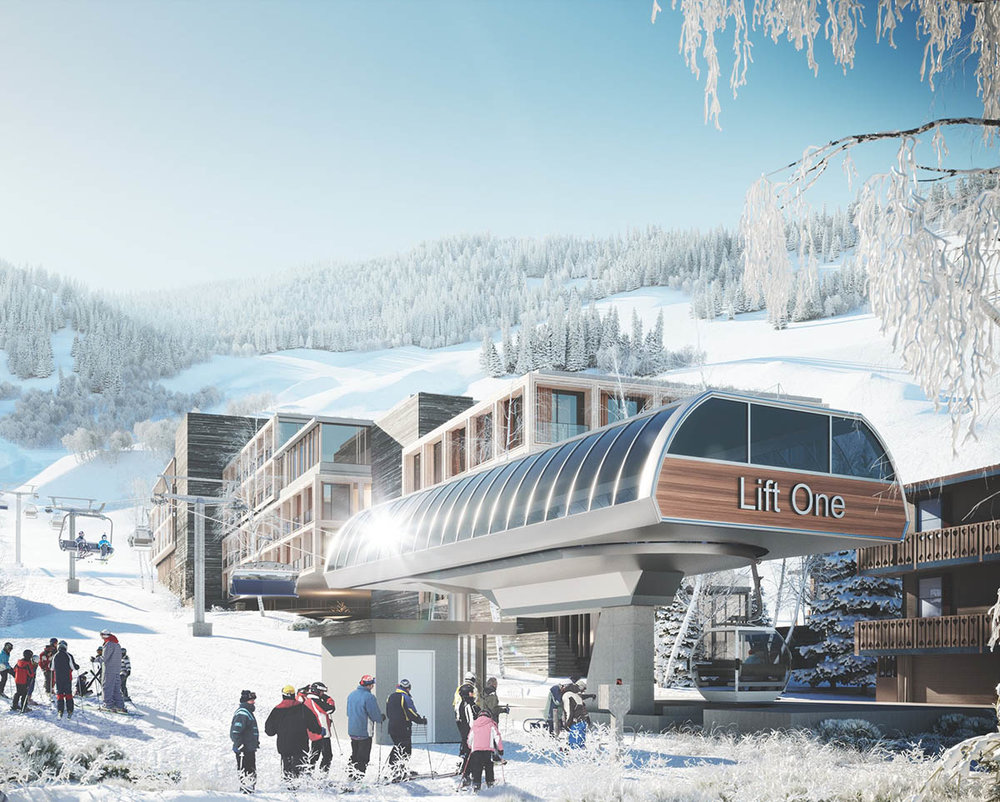 Lift & Skiing - A new Telemix lift that loads where the original Lift 1 was located, a few dozen feet from Dean Street.