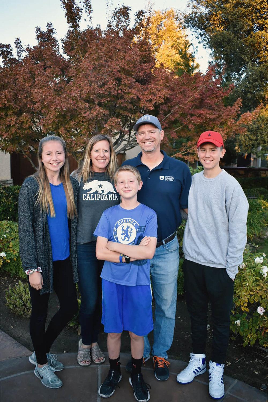 Principal Tom Olmstead and Family