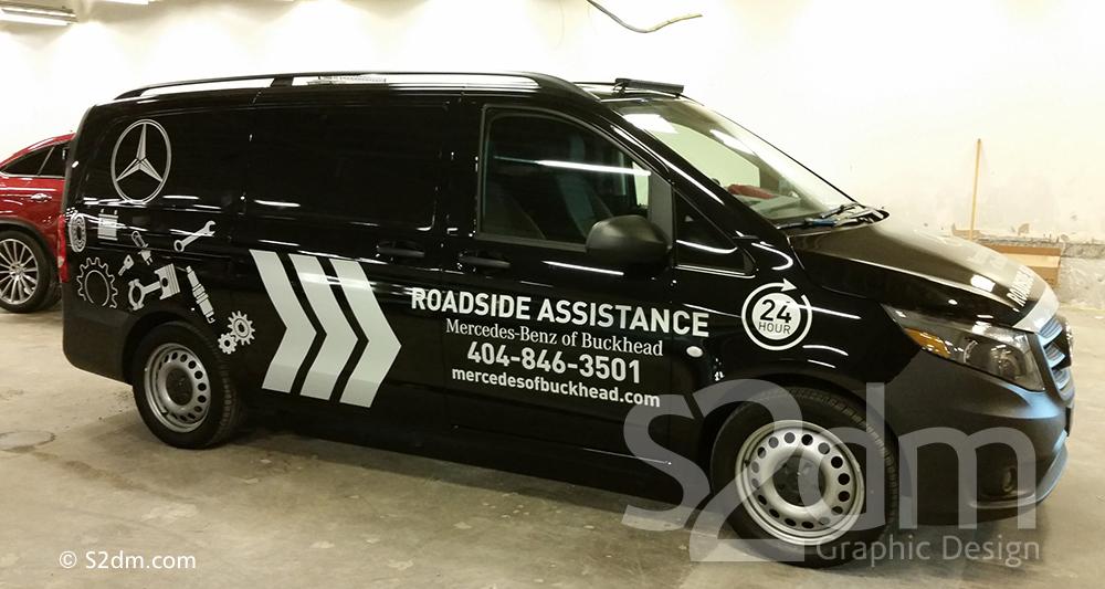 Mercedes Roadside Assistance >> Vehicle Graphics Mercedes Benz Of Buckhead Roadside Assistance