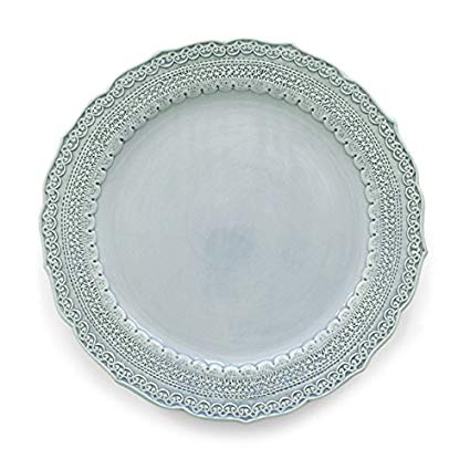 """Firenze Blue Dinner Plates 11"""""""