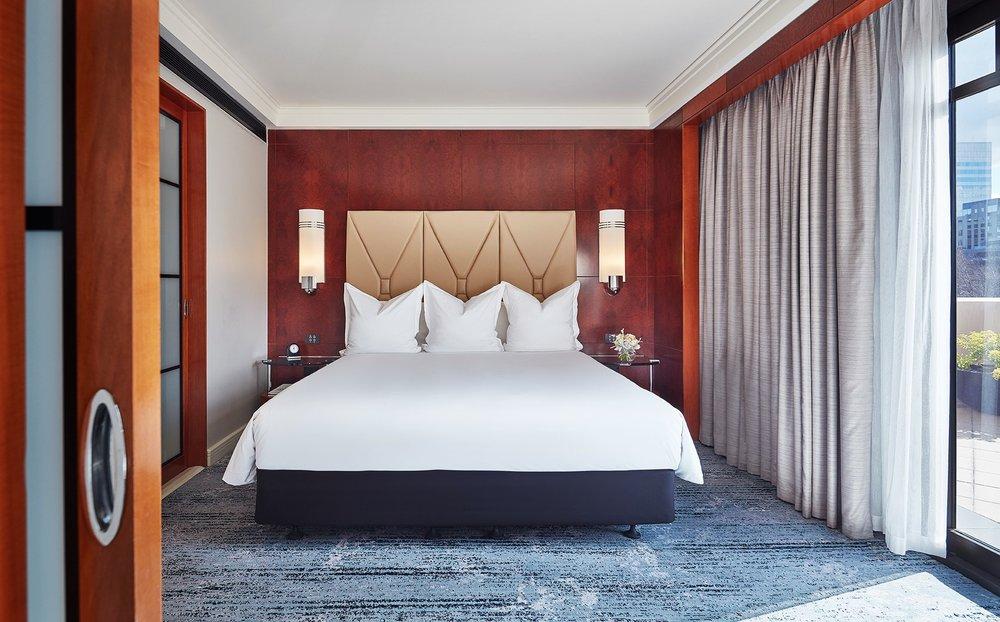 Bedroom in Terrace Suite room at Park Hyatt Melbourne