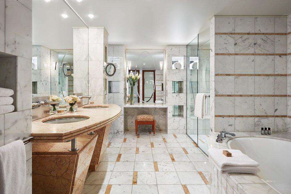 Bathroom in Diplomat Suite at Park Hyatt Melbourne hotel