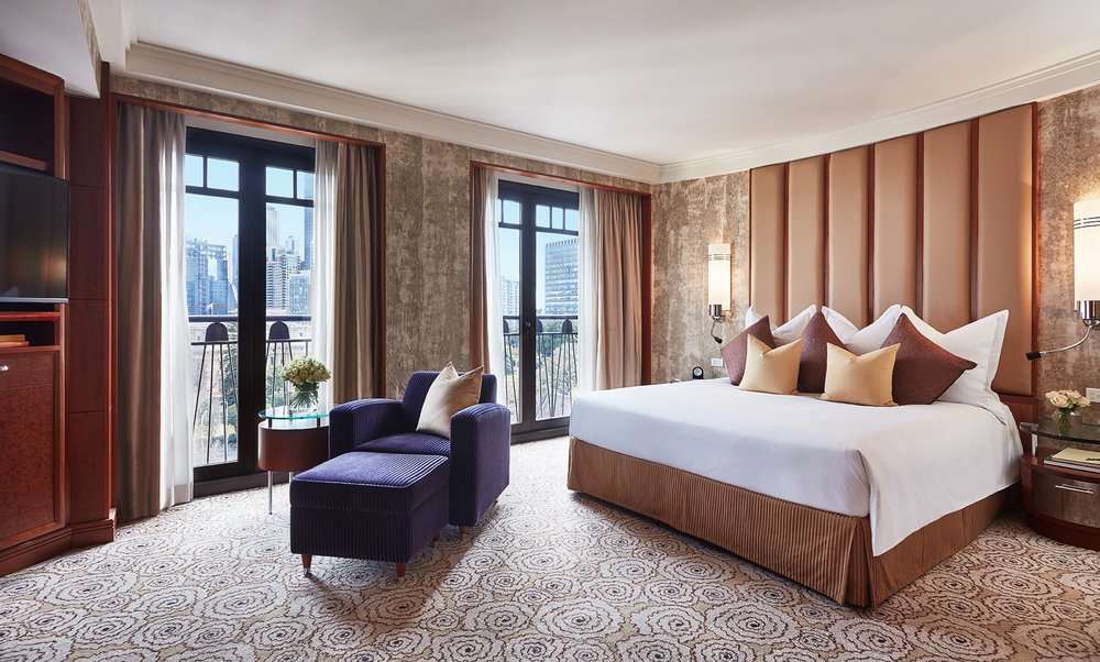 Bedroom in Diplomat Suite at Park Hyatt Melbourne hotel