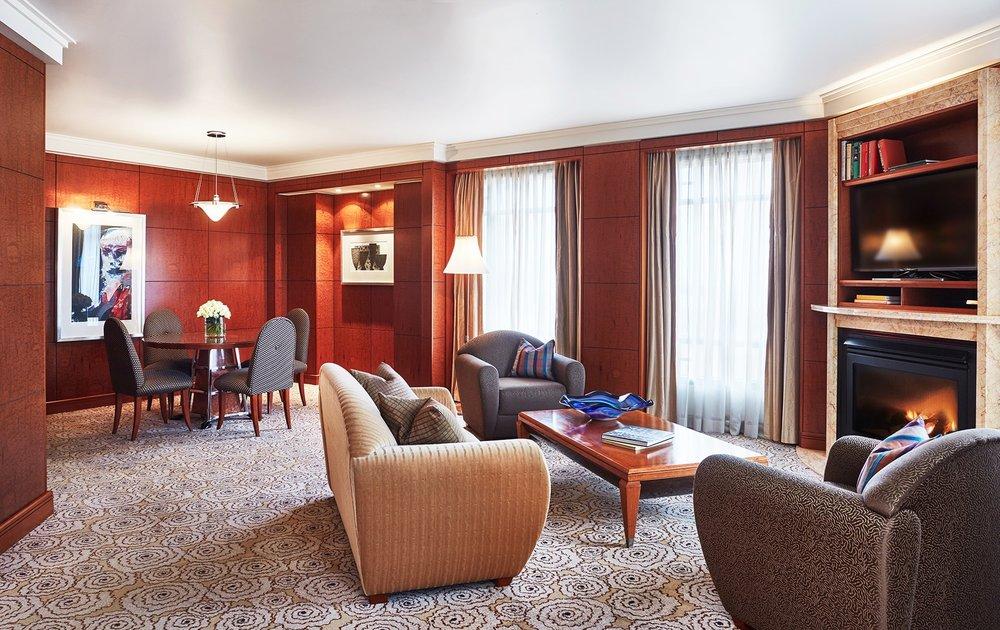 Living Room in Diplomat Suite at Park Hyatt Melbourne hotel