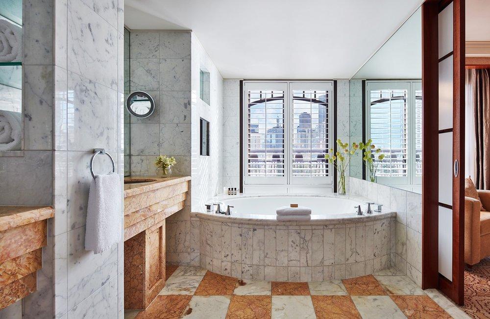 Bathroom in Ambassador Suite at Park Hyatt Melbourne hotel