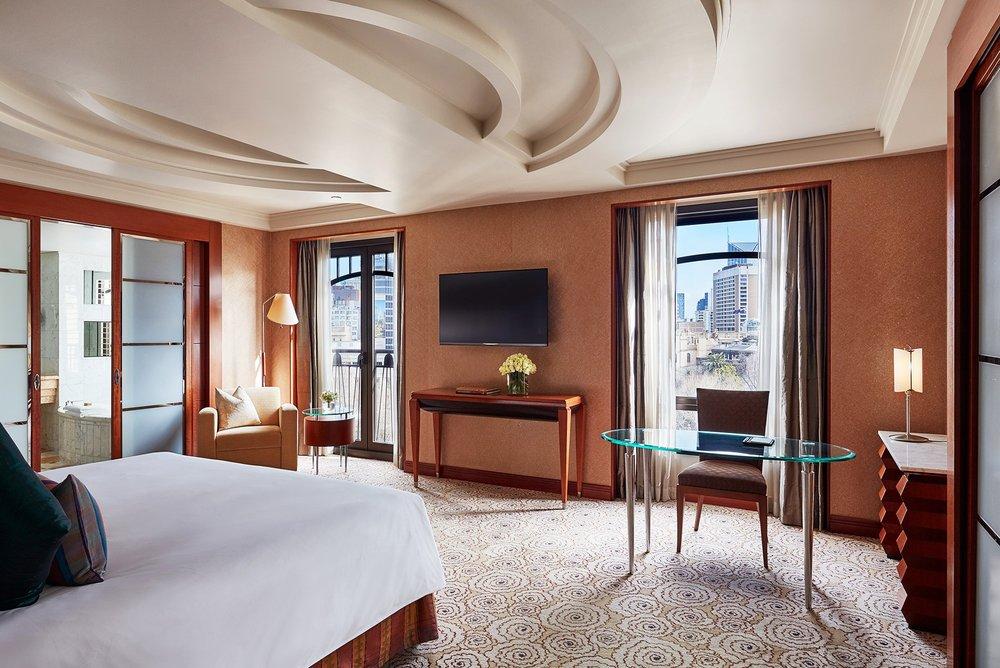 Bedroom in Ambassador Suite at Park Hyatt Melbourne hotel