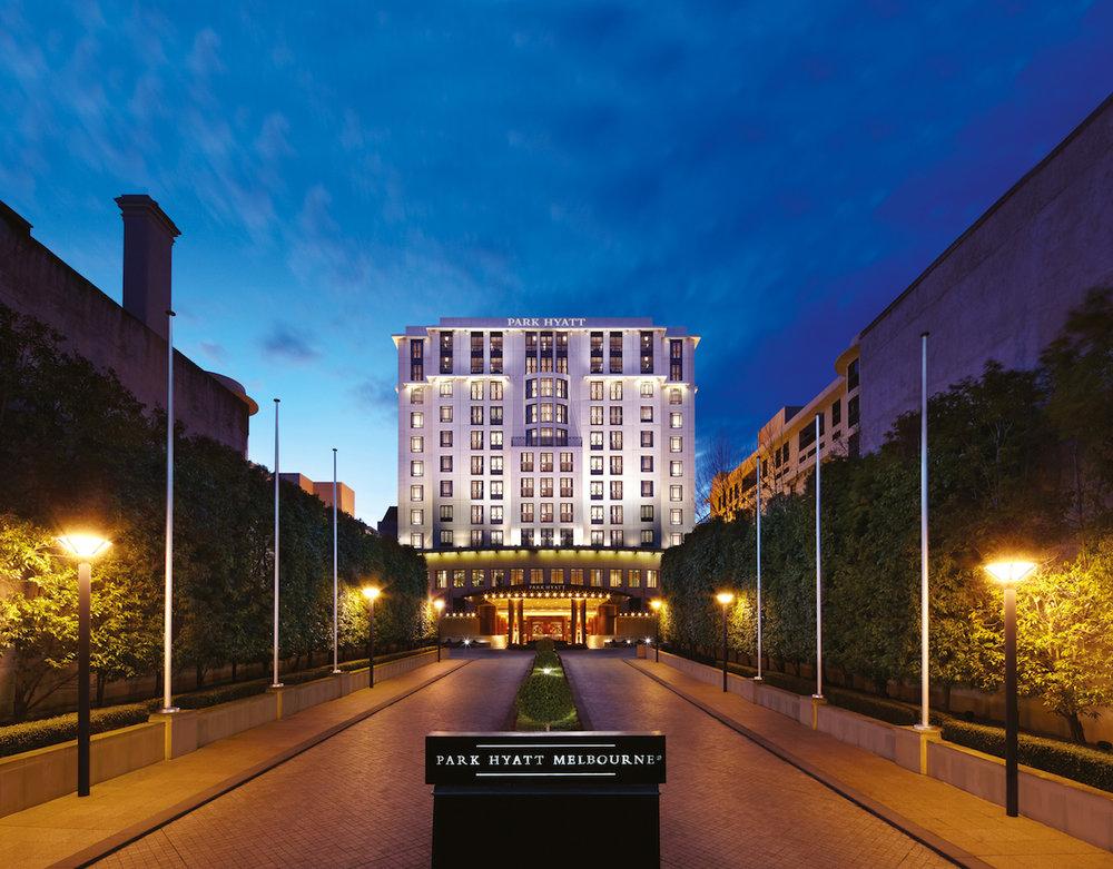 Iconic Driveway at Park Hyatt Melbourne hotel