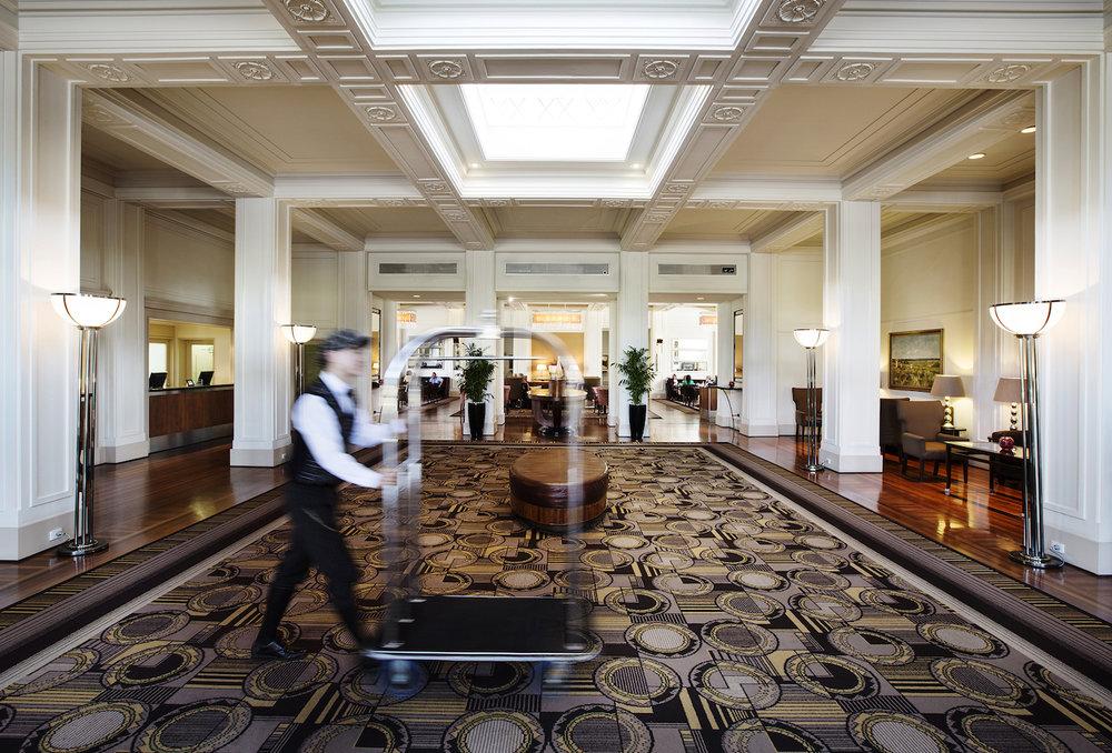 Lobby at Hyatt Hotel Canberra