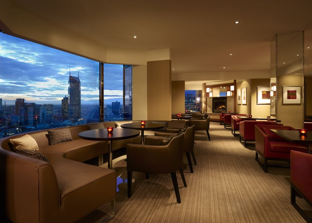 Grand Club Lounge Skyline View at Grand Hyatt Melbourne