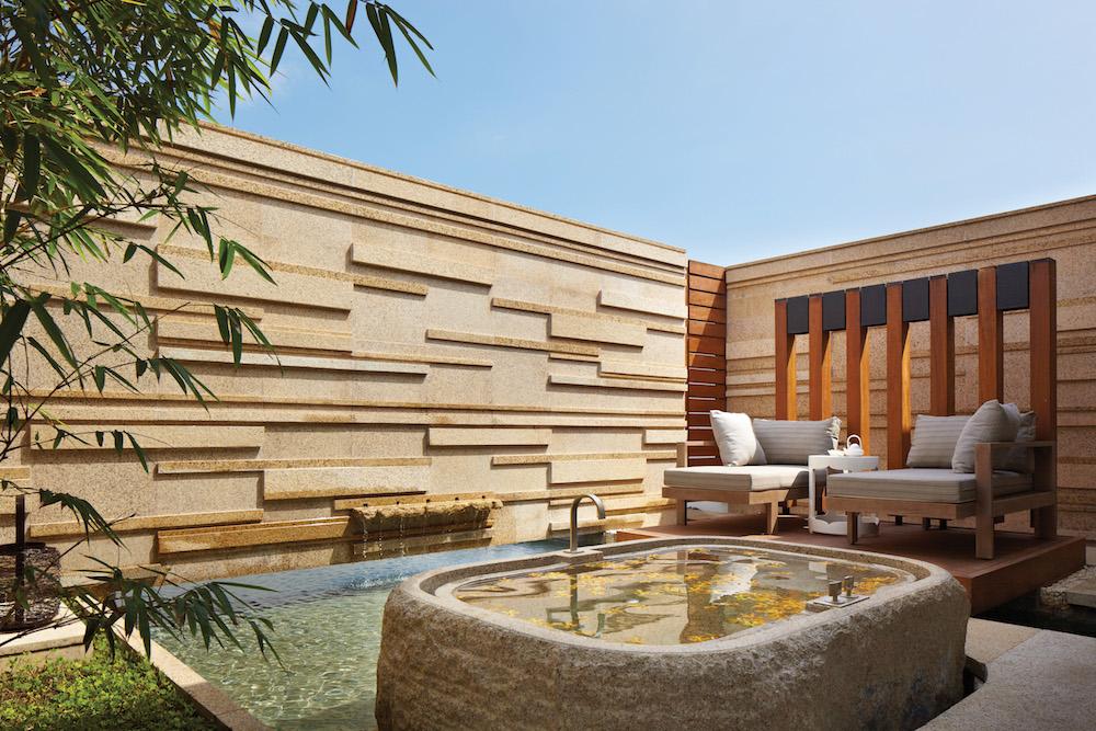 Honeymoon in Vietnam at Hyatt Regency Danang -Spa outdoor bath.jpg
