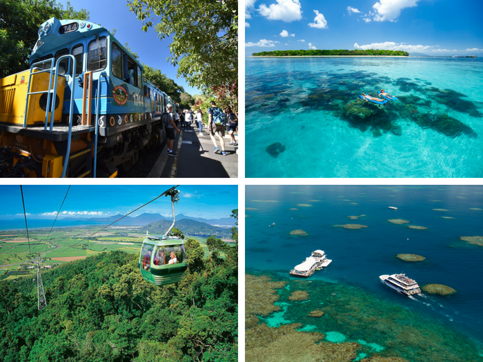 Kuranda & Green Island and Great Barrier Reef(2 days) -