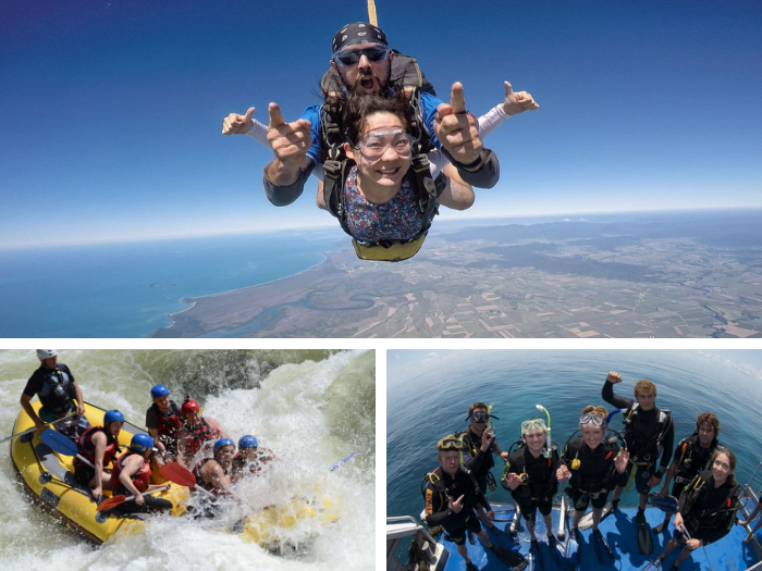Skydiving (15,000ft) + Tully Rafting + Sea Quest (3 days) - Tour code: COMBOSTS