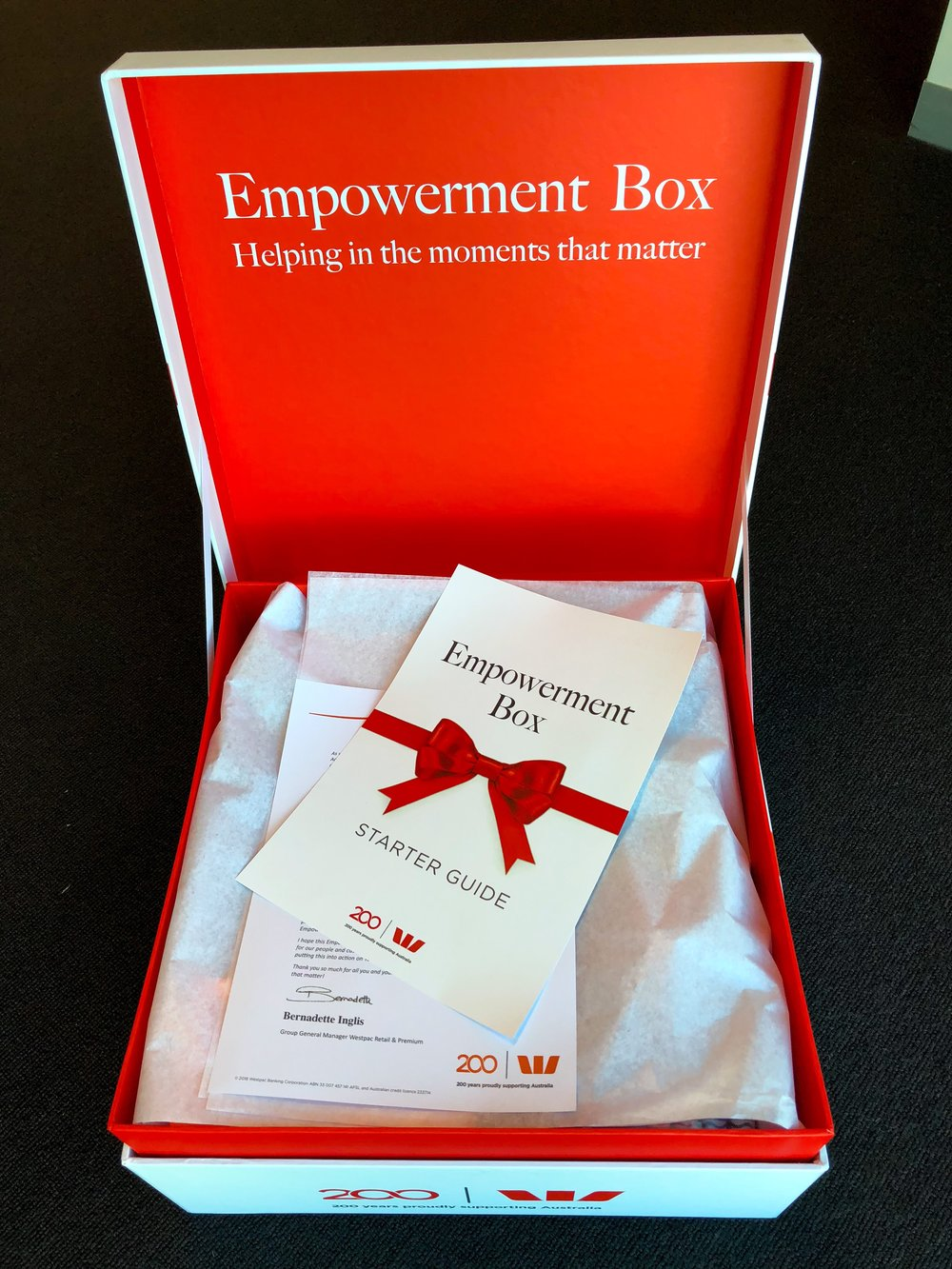 Willett Westpac Empowerment boxes