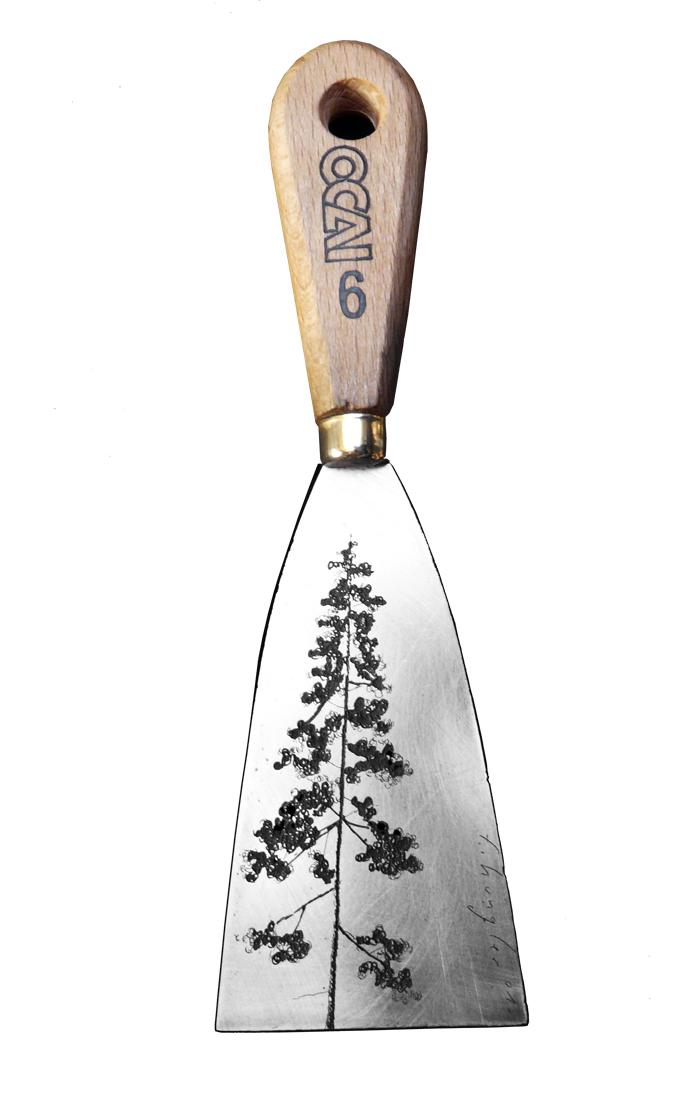 Spatule arbre - gravure sur objet