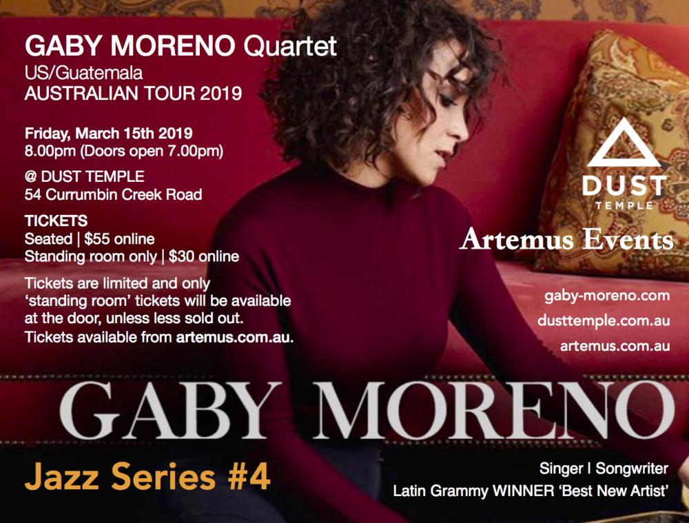 Gaby Moreno - promo flyer