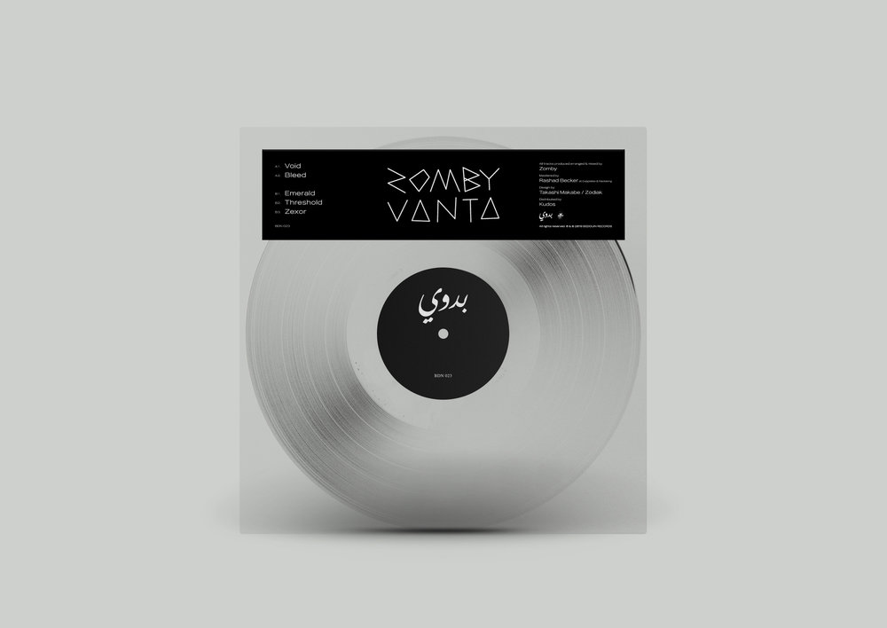 London, 08.04.2019   Vantablack prevents stray light from entering telescopes. It is the blackest known substance on earth.  With  Vanta ,   Zomby is giving us an insight into his darkest.  Vanta    is a construction for the savage. A brute soundscape that reaches the profane along with the cryptical. In this EP Zomby is redetermining his access to techno by developing a language that is archaic. A language that is his own.  Zomby is an electronic music artist. The phantom of the Bedouin Records opera. On the 17th of May the label is releasing an EP of his that is called  Vanta . With  Vanta  Zomby is giving us a whole different insight in his musical spectrum. An insight to his darkest.  Selected Press:  'Heavy duty rave fare that takes Zomby in a new direction while sitting within his broader aesthetics, the EP features five tracks of ultra-dark electronics.'   Clash Magazine    'Vanta explores a typically dark sound, functional techno in Bleed, raw and grainy techno in Threshold and a touch of melodic acid in Zexor.'   Inverted Audio    '(...) meditative acid melodies and lead-footed bass lines (...)'   Self-titled Mag   More Press:  Avyss Magazine ,  Clubbing Spain ,  Exclaim ,  Hyponik ,  The Ransom Note