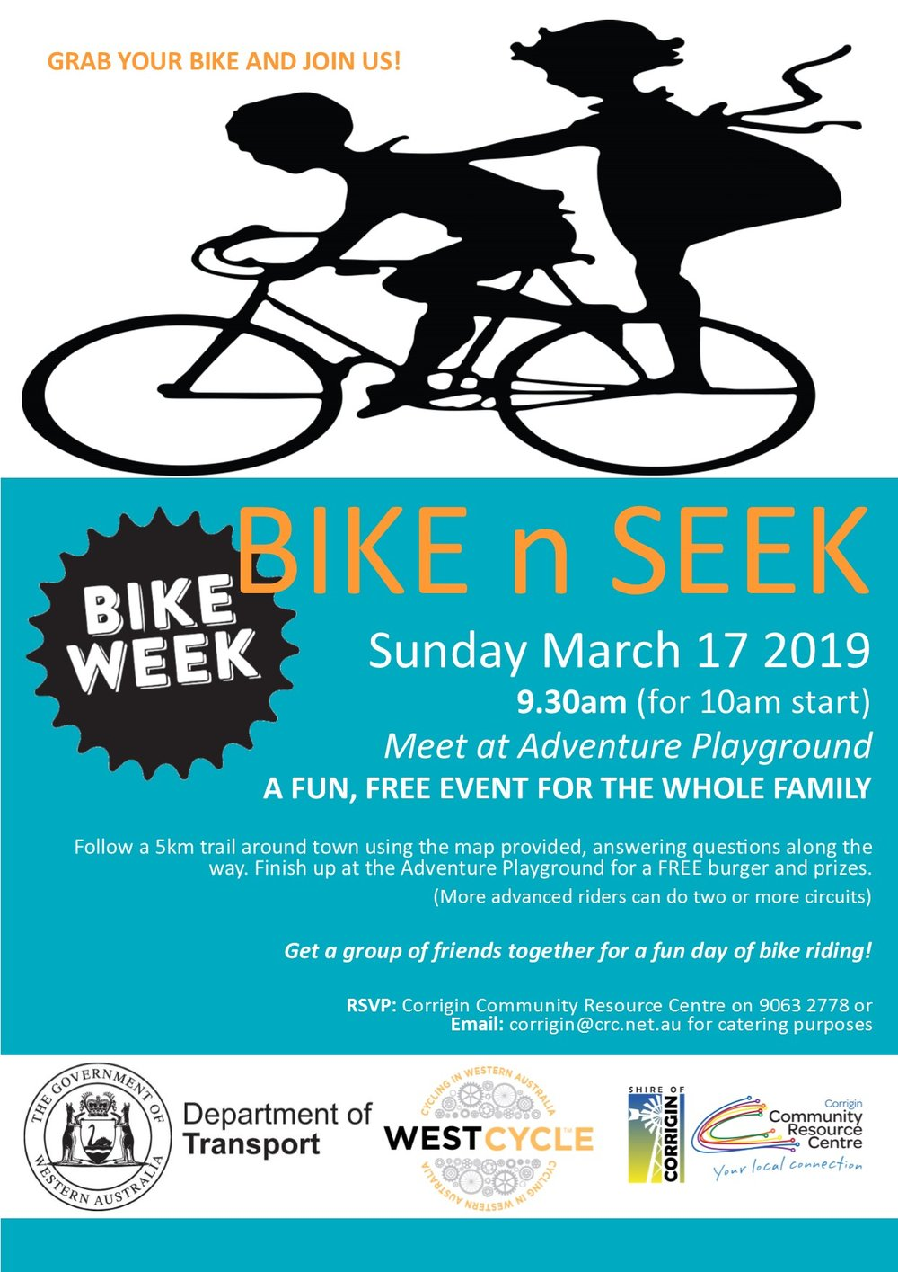 Shire of Corrigin Bikeweek Poster  Bike n Seek 2019.jpg