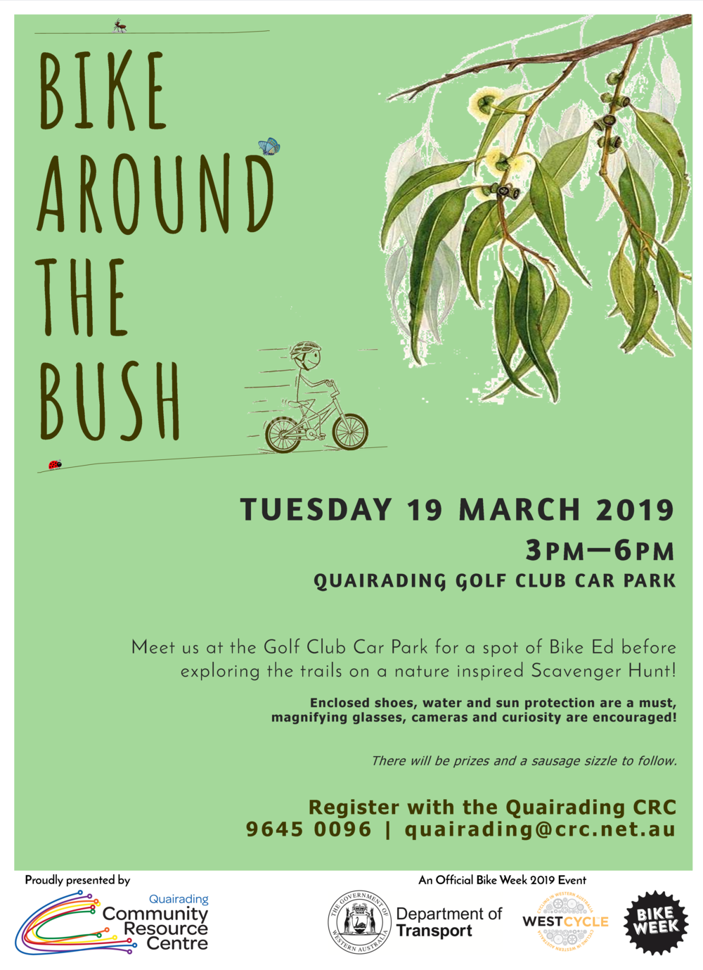 Quaraiding CRC  Bike Around The Bush Poster.png