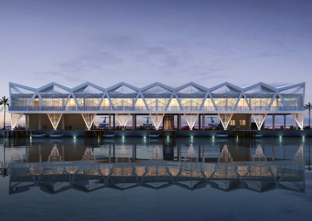 Cargo terminal that can handle 120,000 tons of cargo per year -
