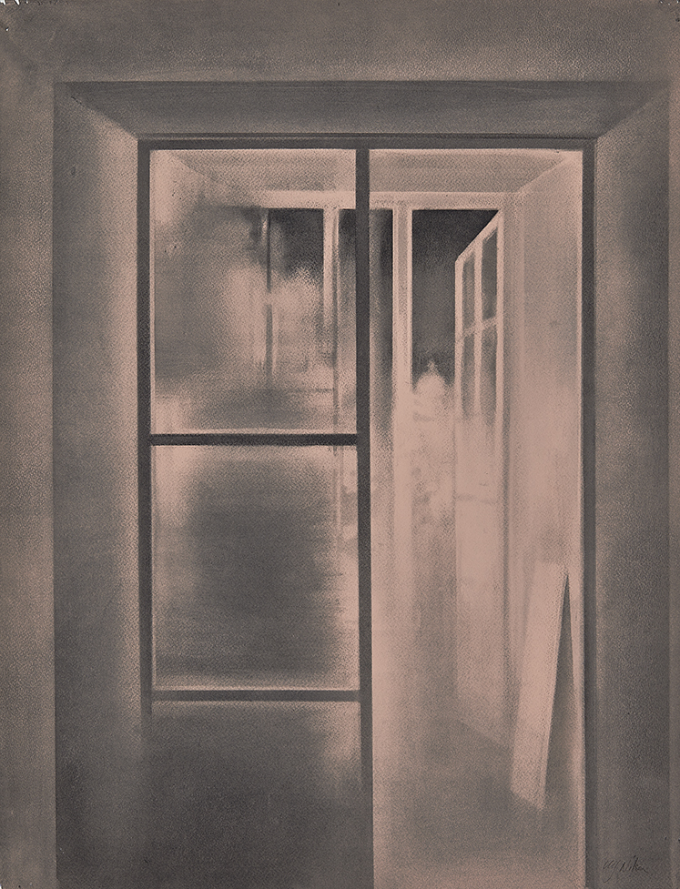 My open Door Charcoal on paper, 65 x 50 cm