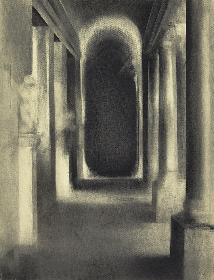Passage into the Dark Charcoal on paper, 65 x 50 cm
