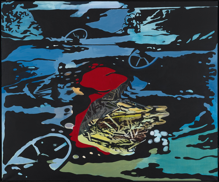 Journey into the Deep Blue, 2013 Oil on canvas, 200x240 cm