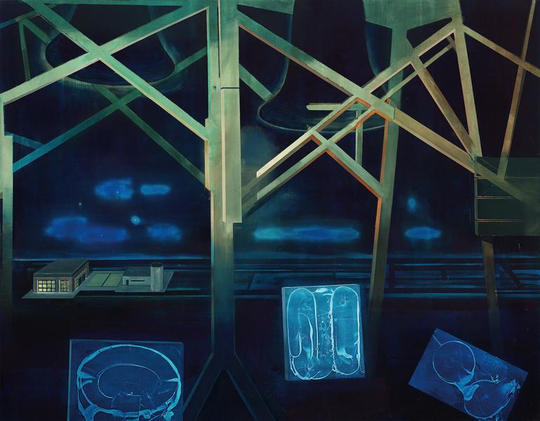 Night Watcher, 2002 Oil on canvas, 200x225 cm