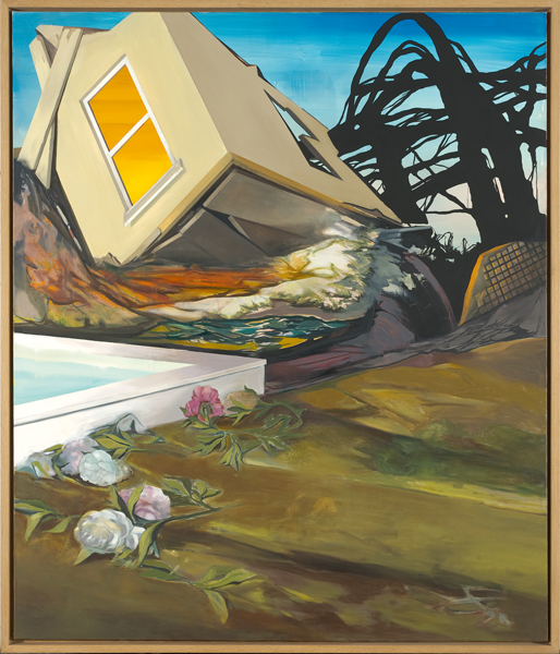 The Falling House, 2009 Oil on canvas, 200x170 cm