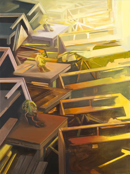 The Decline of the Geometry, 2012-13 Oil on canvas, 200x150 cm