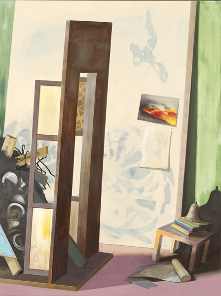 Studio Visitor, 2013 Oil on canvas, 200x140 cm