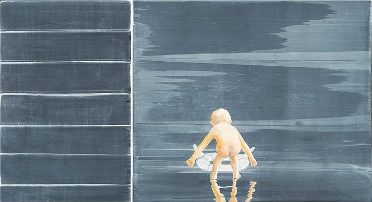 The First Born, 2010 Oil on canvas, 170 x 110 cm/170 x 200 cm