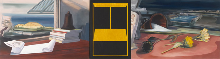 Dodeka: Homage to Arne Nordheim I-III, 2009,  Oil on canvas, 100 x 370 cm