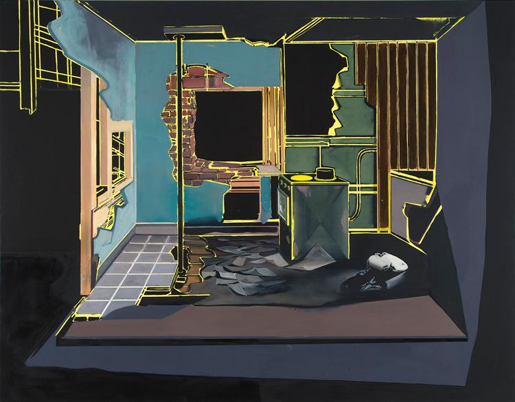 House Unfolding II, 2009 Oil on canvas, 200 x 240 cm