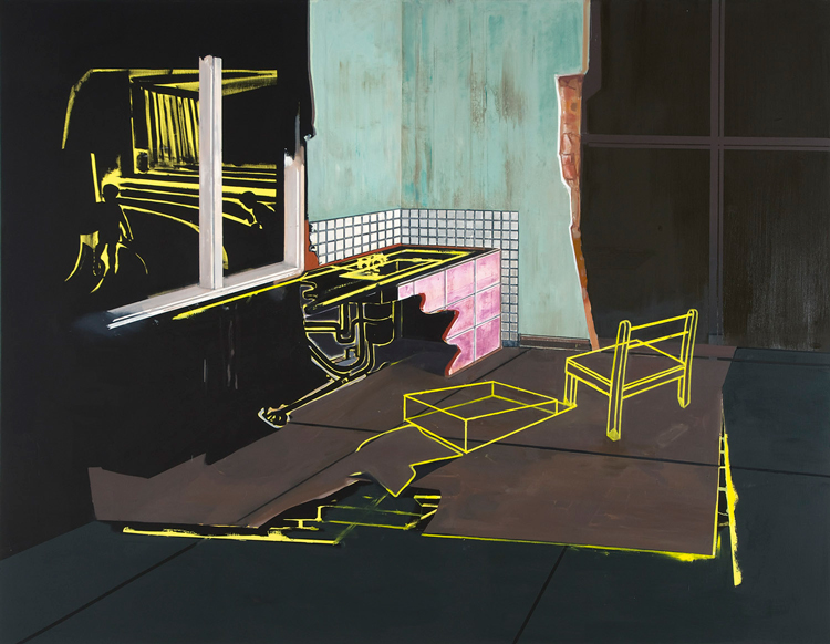 House Unfolding III, 2009 Oil on canvas, 200 x 240 cm