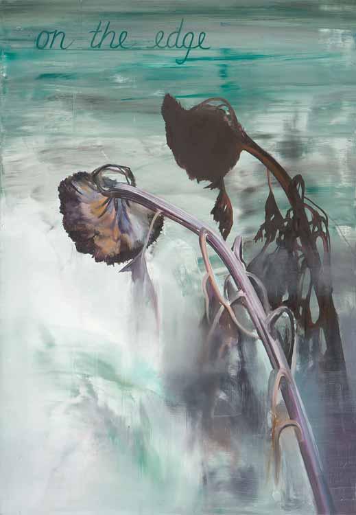 On the Edge, 2008-09, Oil on canvas, 100 x 70 cm