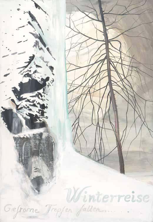 Winterreise (Gefrorne Tropfen Fallen), 2008-09, Oil on canvas, 100 x 70 cm
