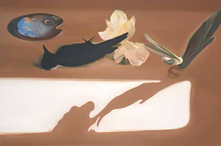 Nature Morte (to Akseli Kallela), 2008-09, Oil on canvas, 140 x 100