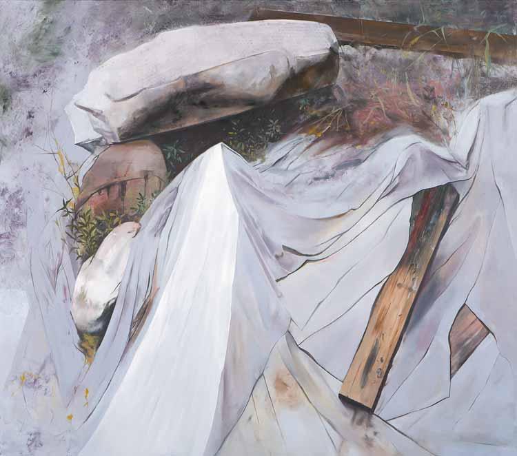 Witness (a self portrait), to Akseli Kallela. 2008-2009 Oil on canvas, 225 x 170