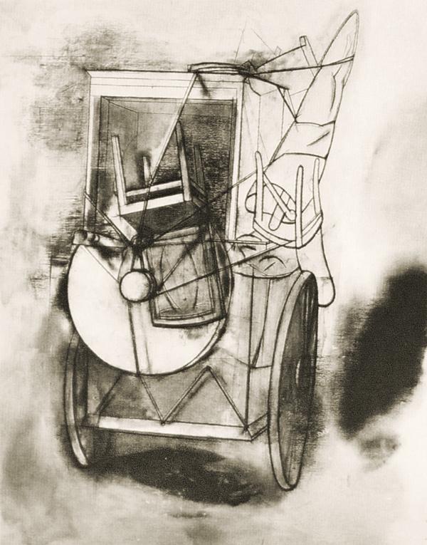 Rituell ferd , 1984, 150 x 120 cm. Museet for samtidskunst