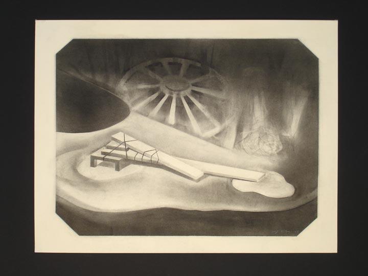 Imprint, 2005-2006 Charcoal on paper, 50 x 65 cm
