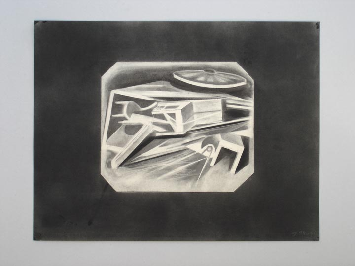 Chaos X-rayed, 2005-2006 Charcoal on paper, 50 x 65 cm